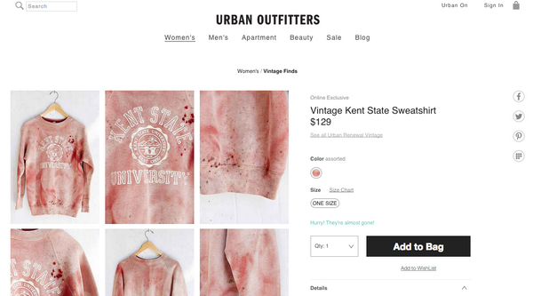 Urban Outfitters fail